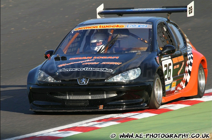 At Brands in his Peugeot 206